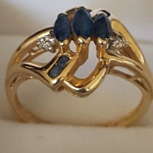 10k Real gold, Spinel stone, 2.31g Sz5.5